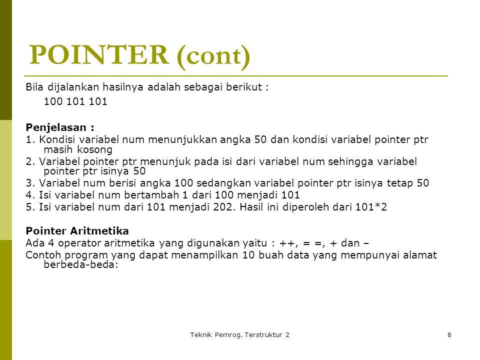 Teknik Pemrog.Terstruktur 29 //Program :pointer3.