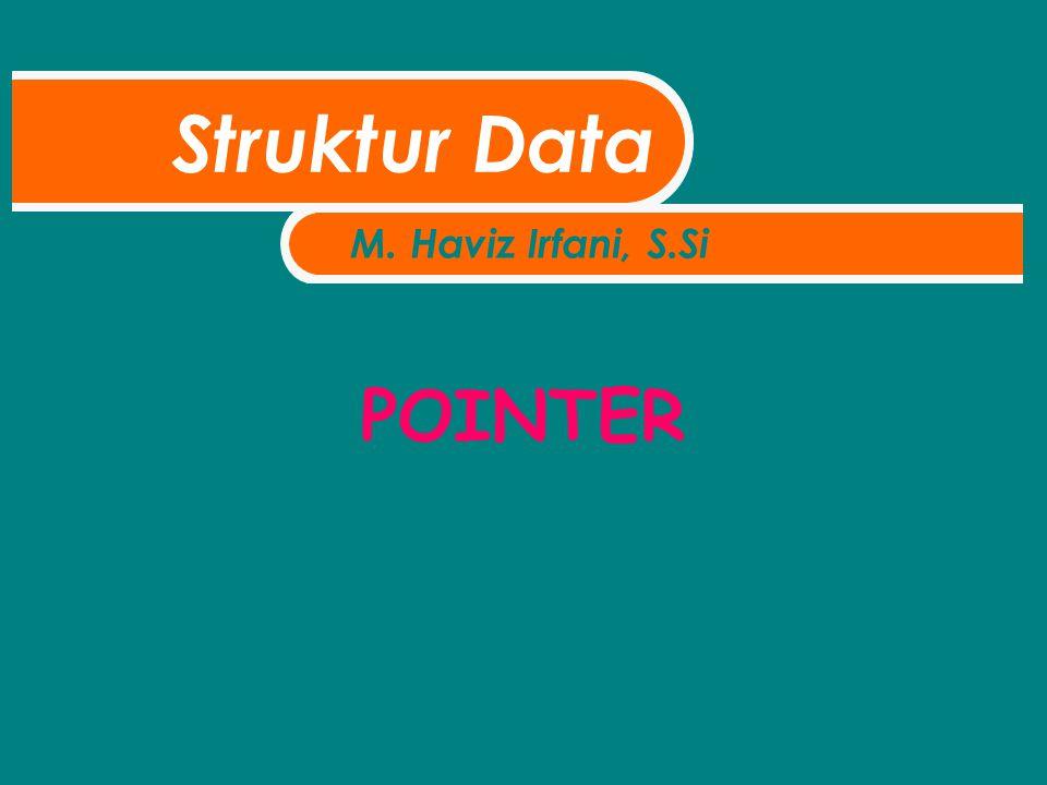 POINTER Struktur Data M. Haviz Irfani, S.Si