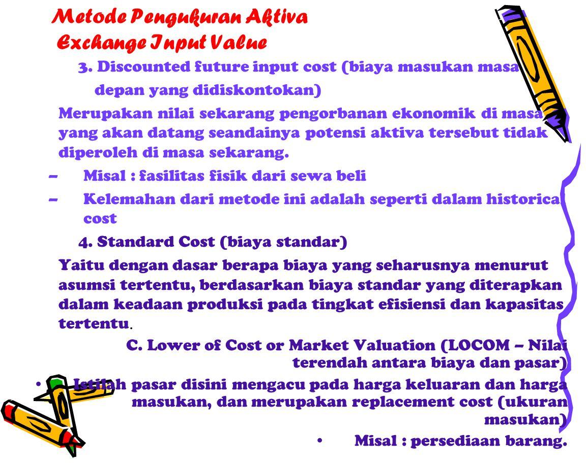 Metode Pengukuran Aktiva Exchange Input Value 3.