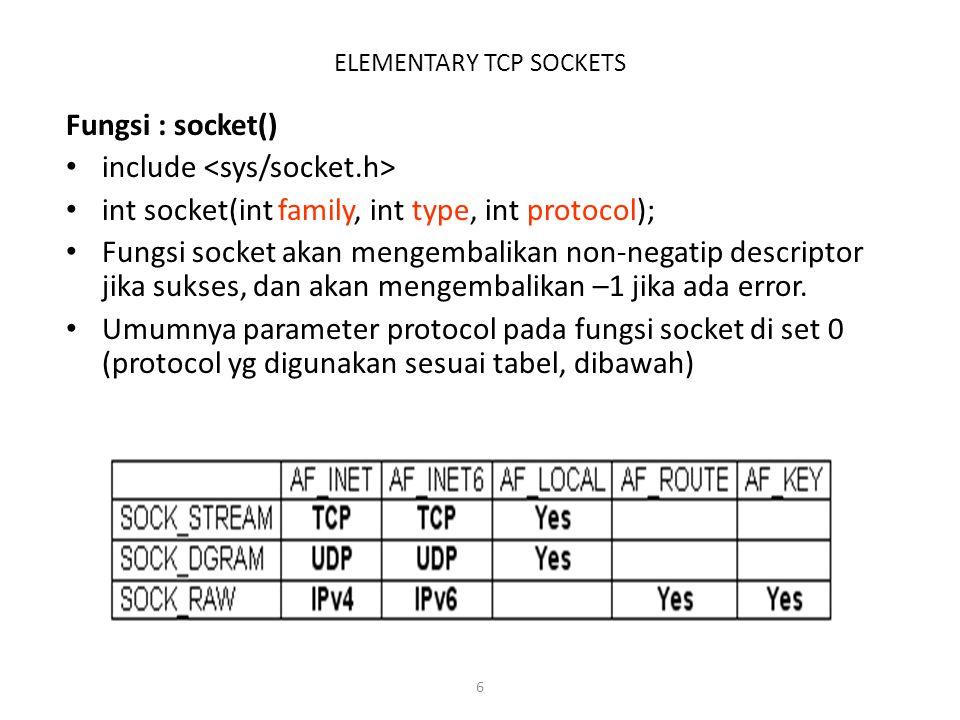7 ELEMENTARY TCP SOCKETS