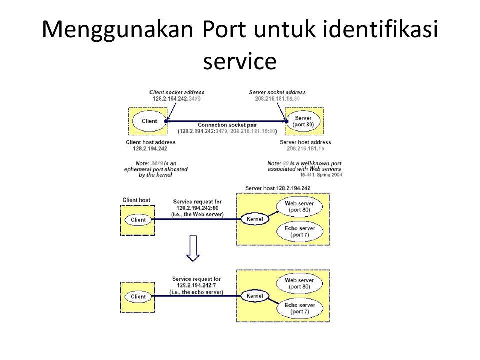 Menggunakan Port untuk identifikasi service