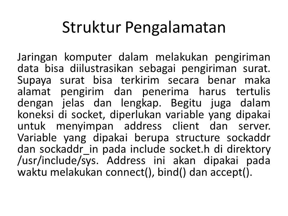 Struktur Pengalamatan Jaringan komputer dalam melakukan pengiriman data bisa diilustrasikan sebagai pengiriman surat.