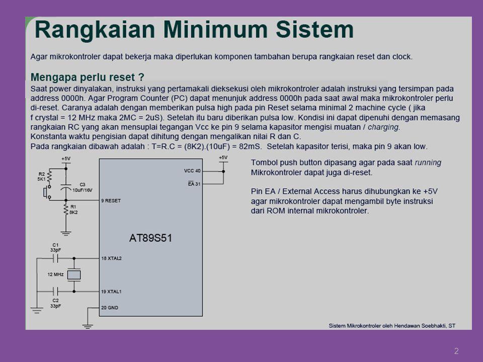 Serial Port Registers Serial Port register merupakan register yang digunakan dalam proses komunikasi serial.