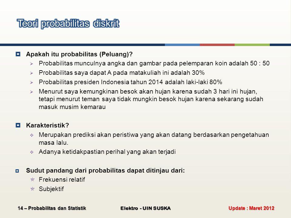  Apakah itu probabilitas (Peluang).
