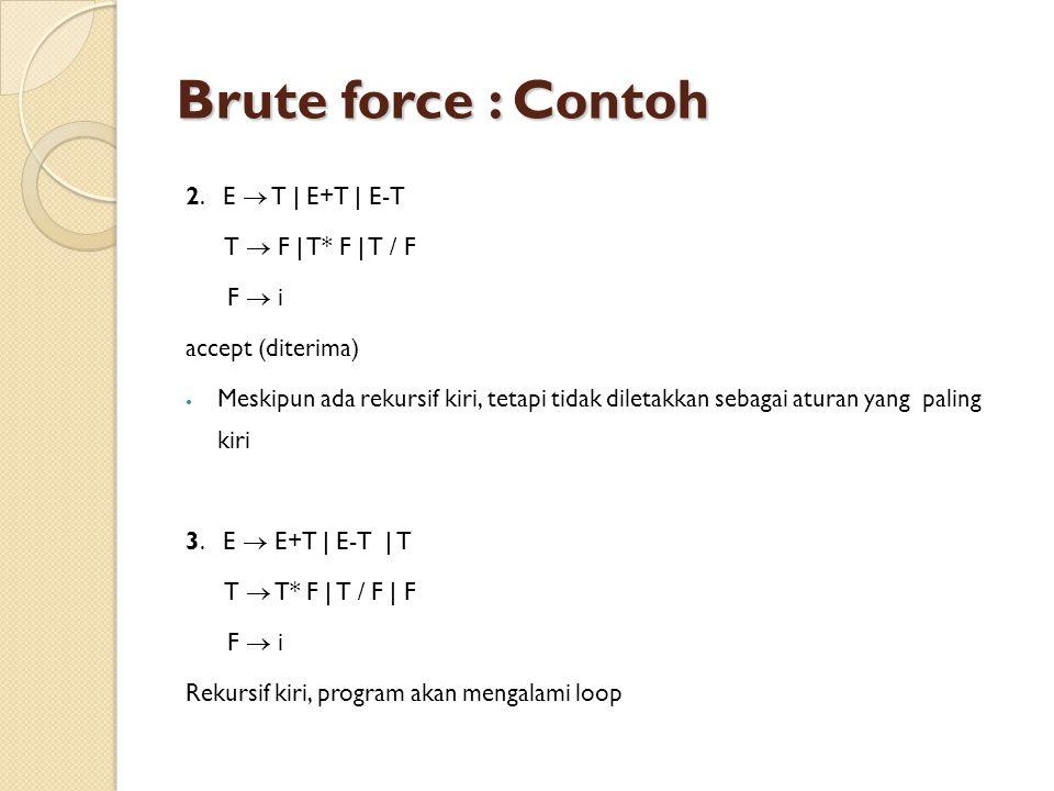 Brute force : Contoh 2.