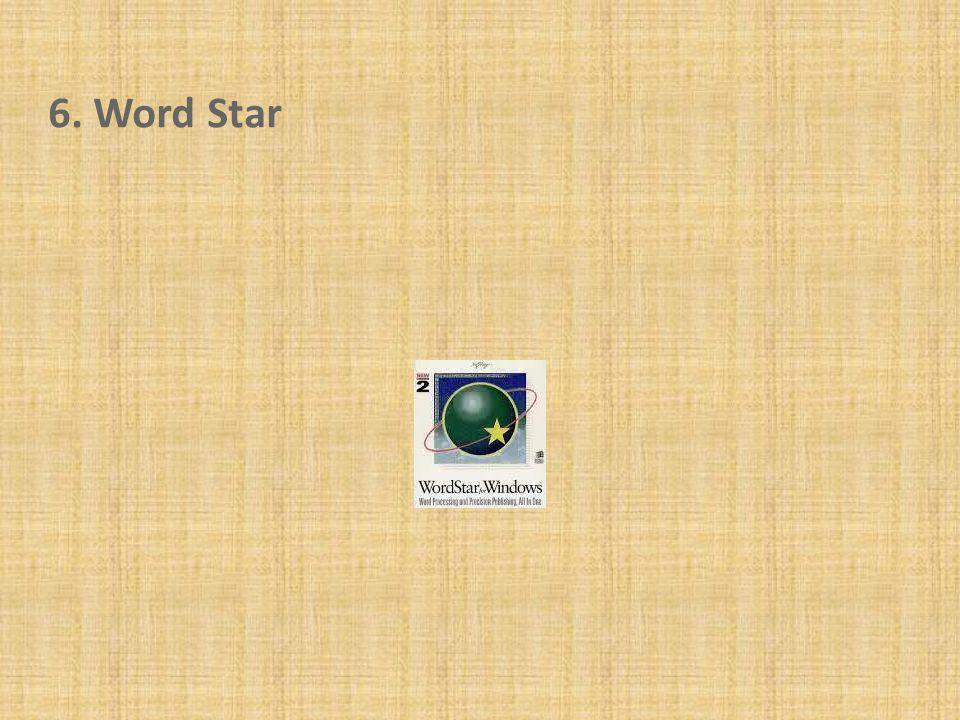 6. Word Star