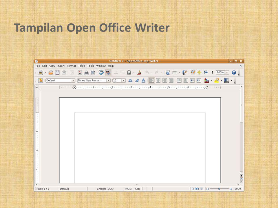 Tampilan Open Office Writer