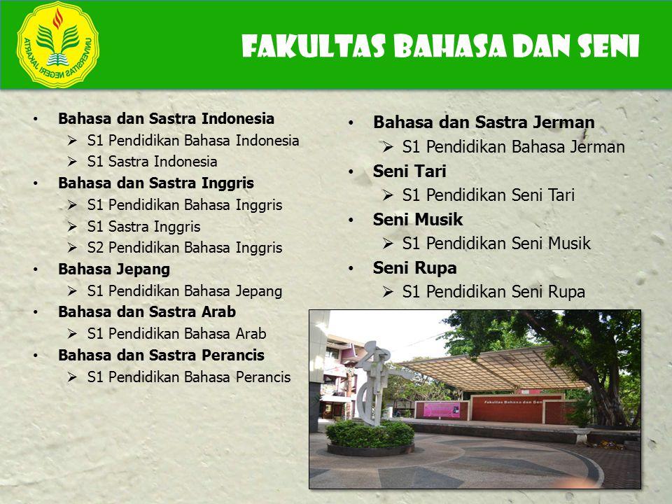 Bahasa dan Sastra Indonesia  S1 Pendidikan Bahasa Indonesia  S1 Sastra Indonesia Bahasa dan Sastra Inggris  S1 Pendidikan Bahasa Inggris  S1 Sastr