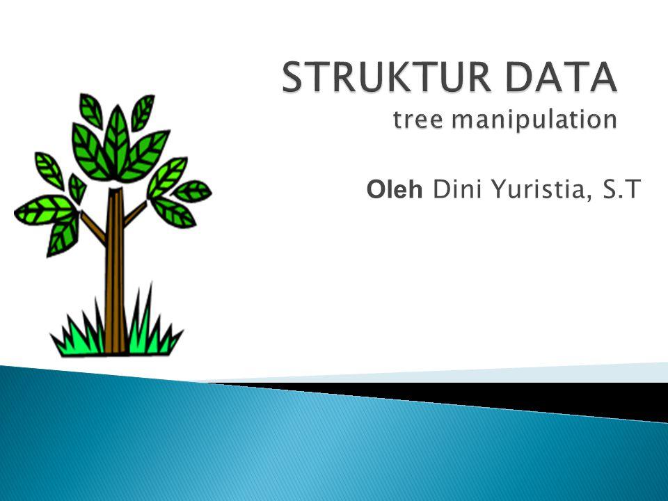  Create: membentuk sebuah tree baru yang kosong.