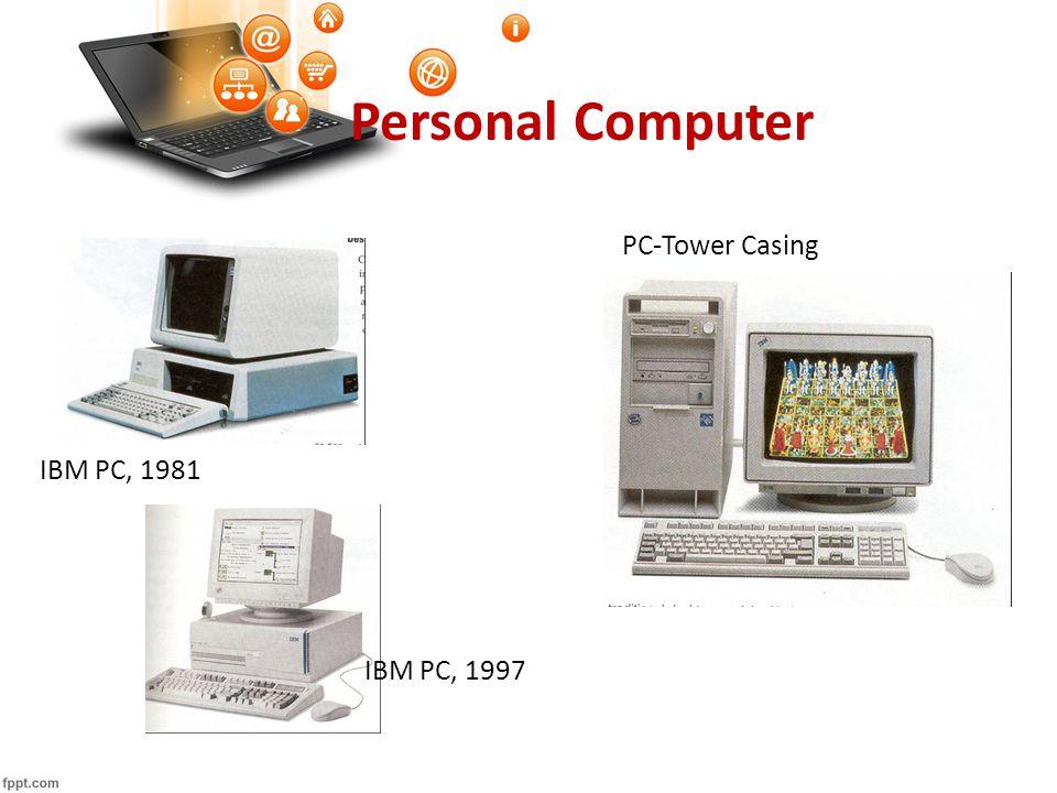 Personal Computer IBM PC, 1981 PC-Tower Casing IBM PC, 1997
