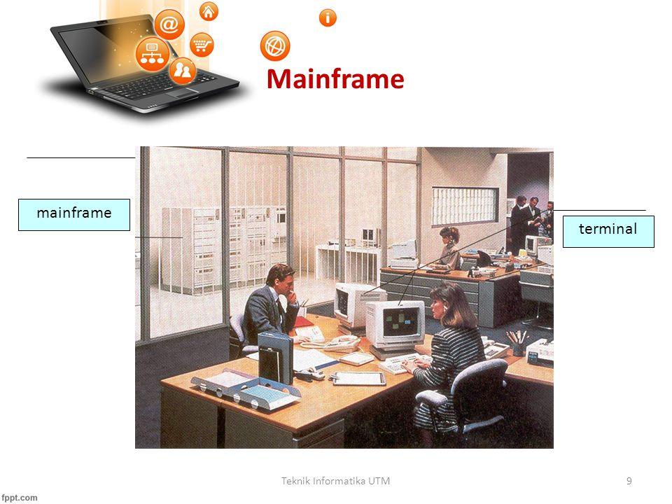 Teknik Informatika UTM9 Mainframe mainframe terminal