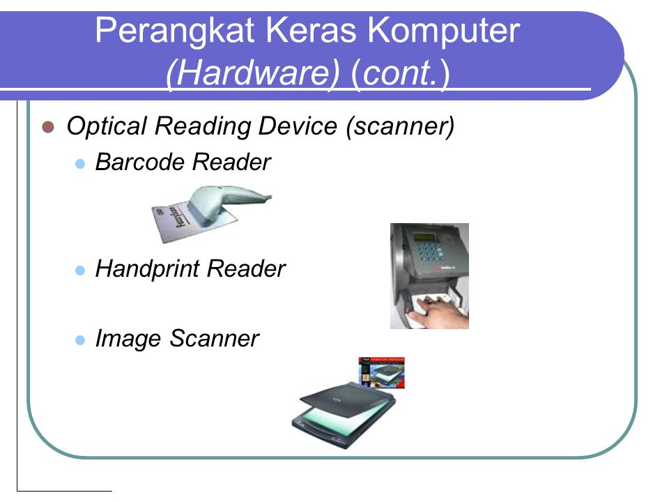 Optical Reading Device (scanner) Barcode Reader Handprint Reader Image Scanner