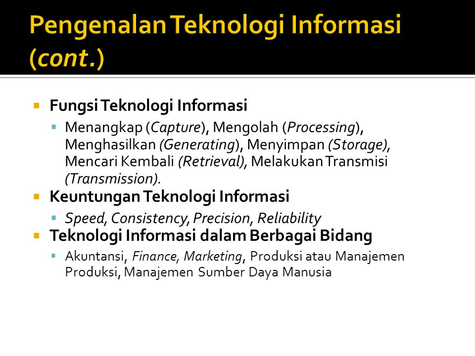 What is the information processing cycle?  Input  Process  Output  Storage  Communication