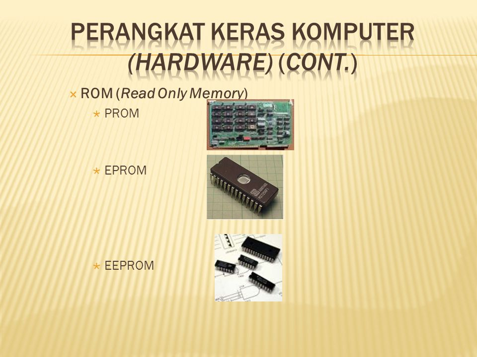  ROM (Read Only Memory)  PROM  EPROM  EEPROM