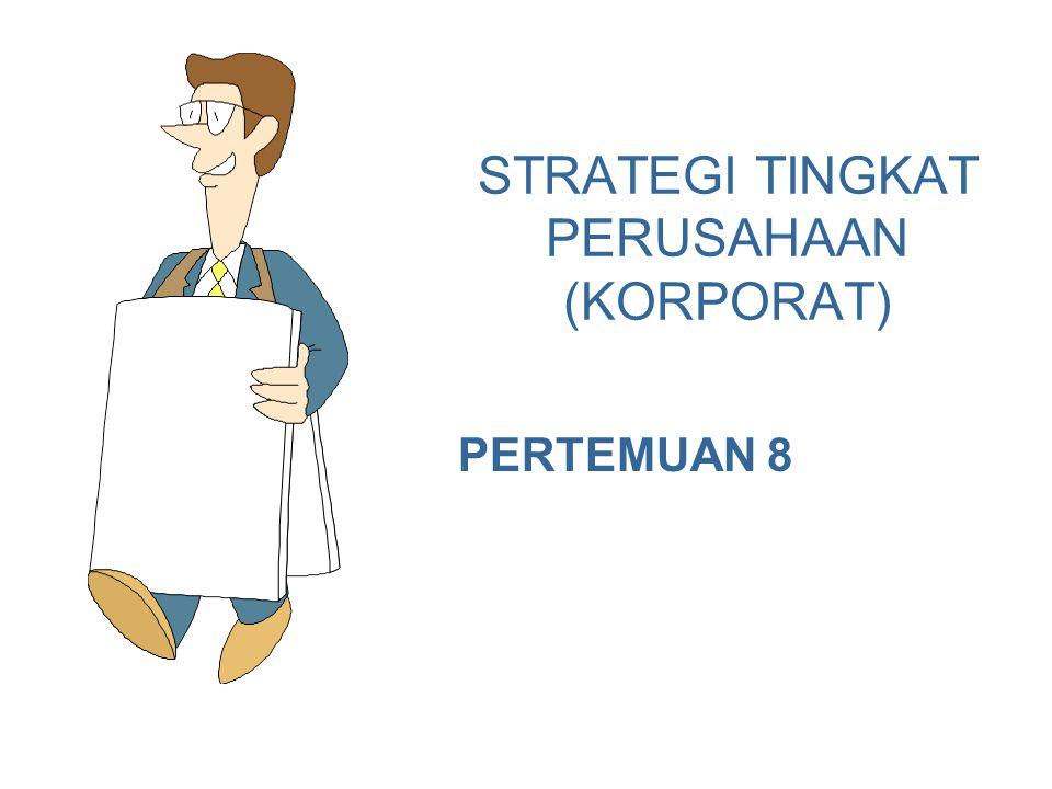 4/22/20152 Perusahaan dengan Diversifikasi Memiliki Dua Tingkat Strategi Bisnis 1.