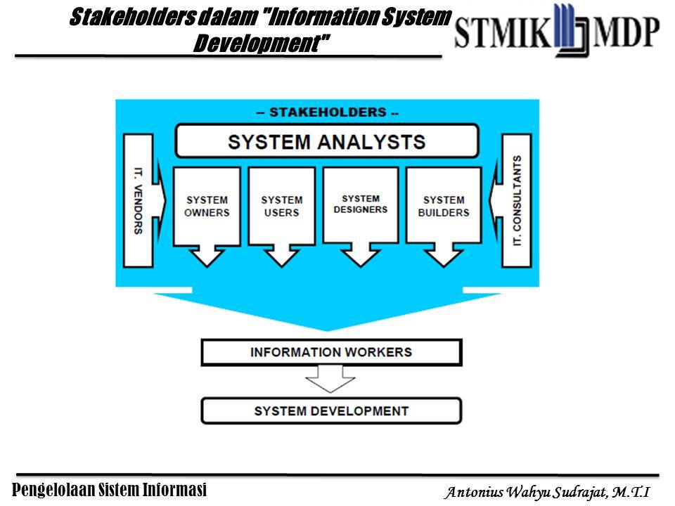 Pengelolaan Sistem Informasi Antonius Wahyu Sudrajat, M.T.I Stakeholders dalam