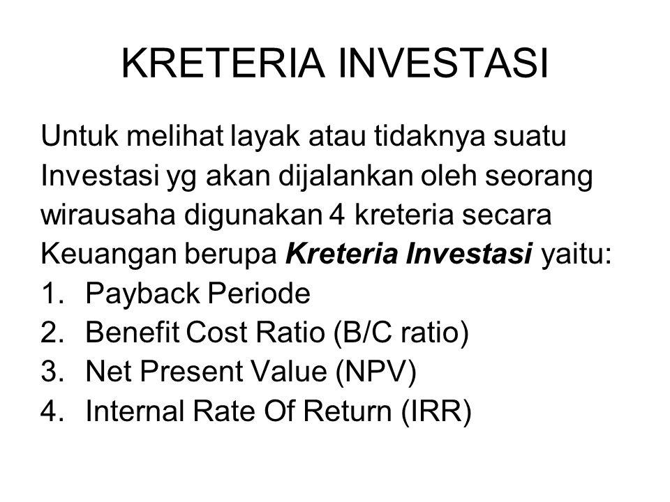 2. Present Value 0 1 2 3 b. Nilai Tunai dari Anuitas Rp. 25 jt r = 20% Rp. 25 jt Rp. ? 4 Rp. 25 jt Rp. ? PV at = a x PVIFA ( Lihat table PV annuitas )