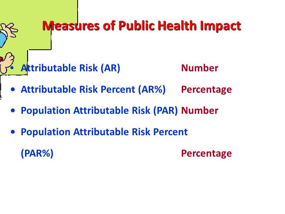 Ukuran-ukuran dampak Ukuran perbedaan efek – Perbedaan prevalens (PD = Prevalence Differrence) PD = [Prevalens dalam kelompok terpajan] - [Prevalens dalam kelompok tidak terpajan]