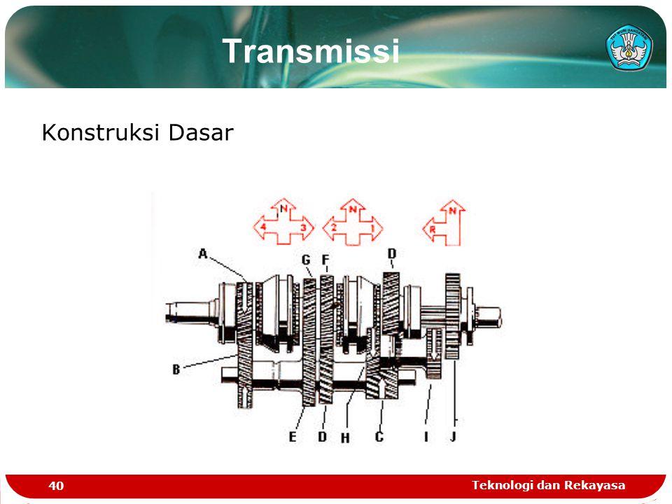 Teknologi dan Rekayasa 40 Konstruksi Dasar Transmissi