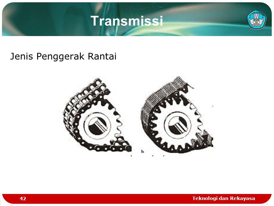 Teknologi dan Rekayasa 42 Jenis Penggerak Rantai Transmissi