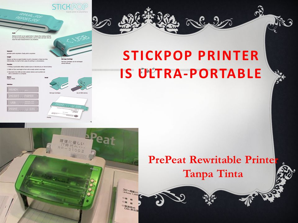 STICKPOP PRINTER IS ULTRA-PORTABLE PrePeat Rewritable Printer Tanpa Tinta
