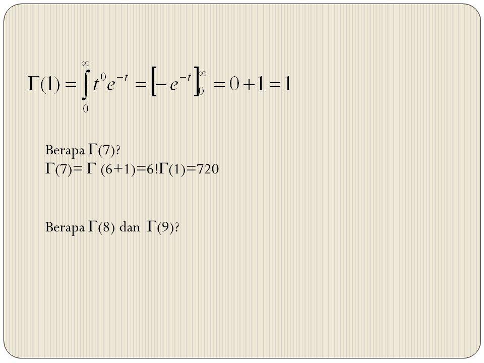 Berapa  (7)?  (7)=  (6+1)=6!  (1)=720 Berapa  (8) dan  (9)?