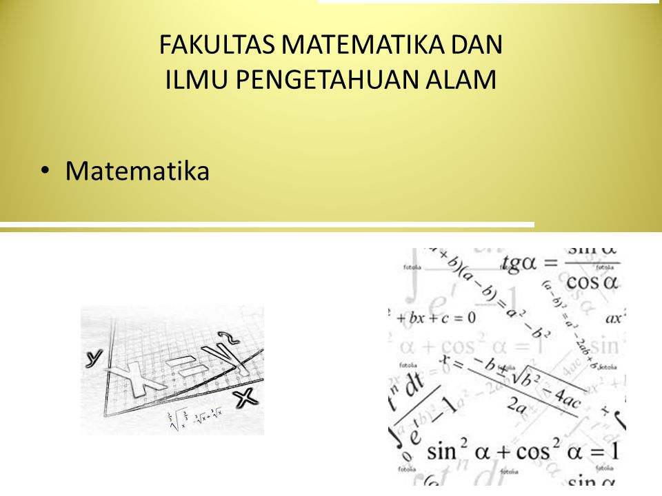 FAKULTAS MATEMATIKA DAN ILMU PENGETAHUAN ALAM Matematika
