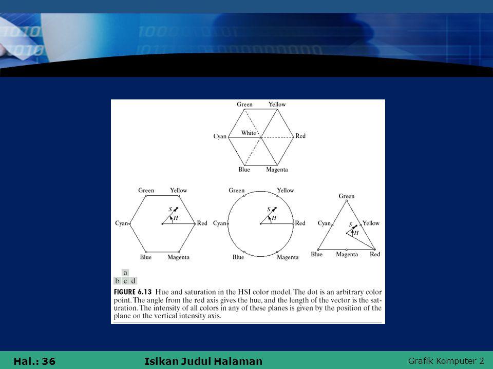 Grafik Komputer 2 Hal.: 36Isikan Judul Halaman