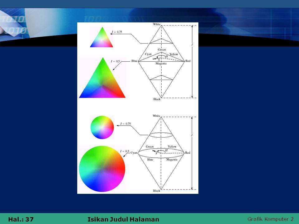 Grafik Komputer 2 Hal.: 37Isikan Judul Halaman