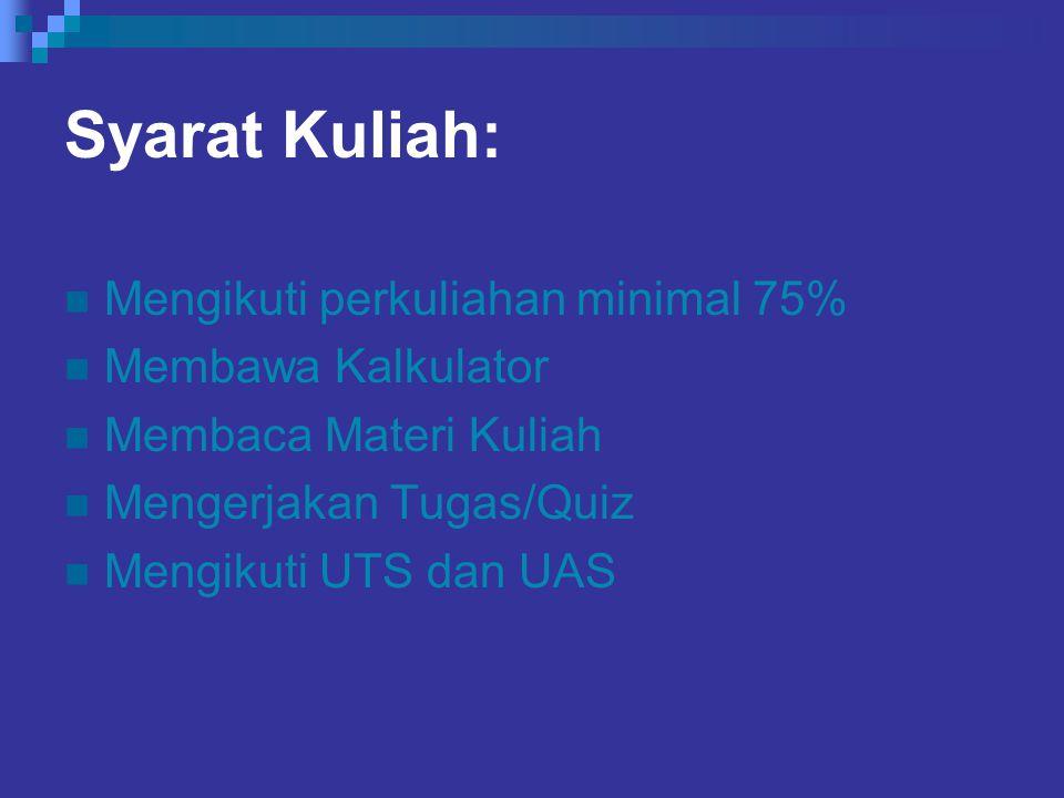 Yang akan kita lakukan: Tutorial Quiz PR/Tugas Midterm Test Final Test