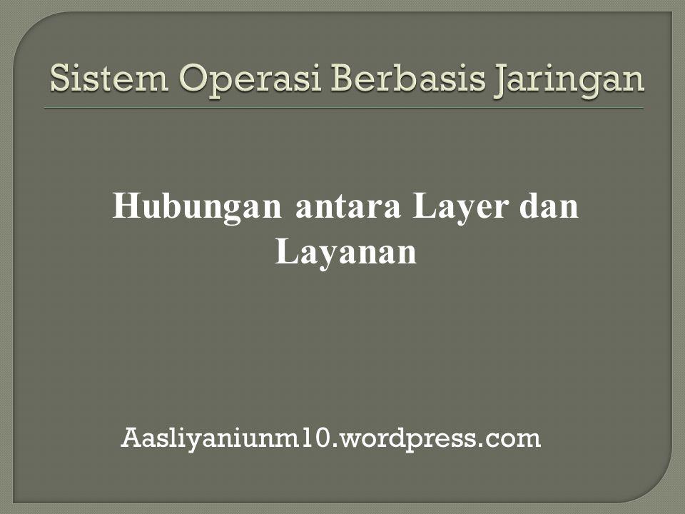  Arsitektur protokol yang digunakan oleh Internet dan jaringan komersial lainnya  Terdiri dari 4 layer: Data link layer Network layer Transport layer Application layer