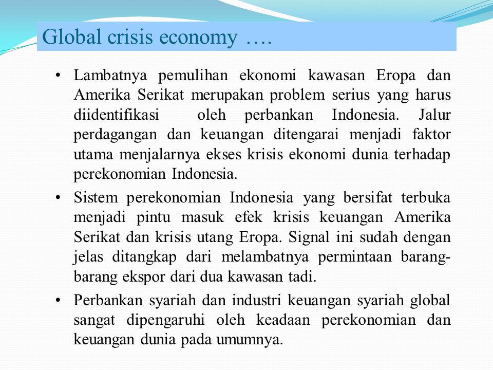 Global crisis economy …. Lambatnya pemulihan ekonomi kawasan Eropa dan Amerika Serikat merupakan problem serius yang harus diidentifikasi oleh perbank