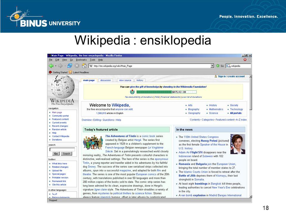 Wikipedia : ensiklopedia 18
