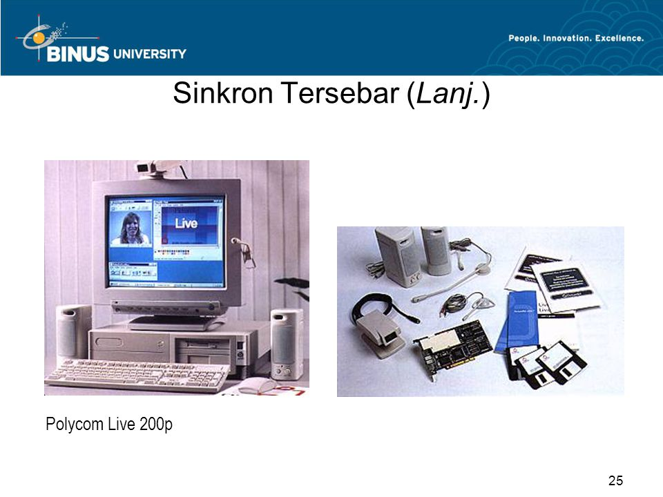 Sinkron Tersebar (Lanj.) Polycom Live 200p 25