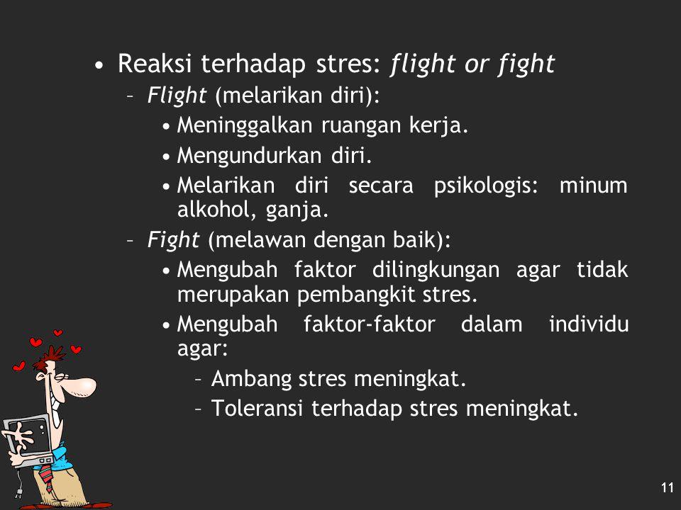 10 Mengelola Stres Stres: dapat dicegah atau dihadapi Mengelola stres: Counseling R elaxation (Pengendoran Urat Saraf) M editation (Bersemedi) B iofee