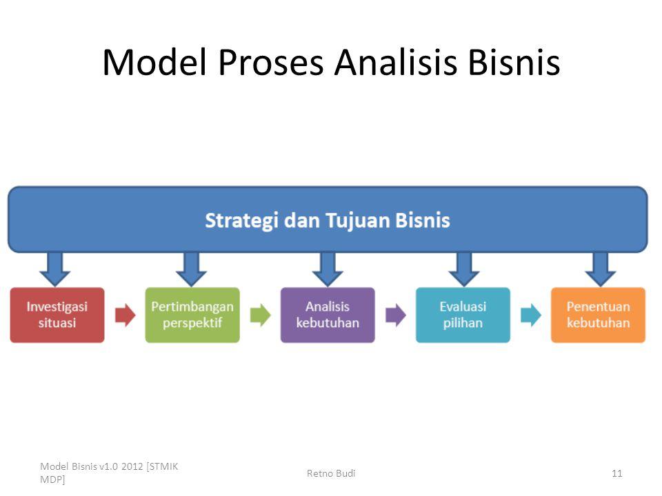 Model Proses Analisis Bisnis Model Bisnis v1.0 2012 [STMIK MDP] Retno Budi11