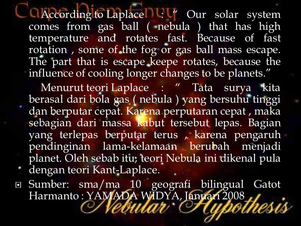  II Kepler's law hukum kepler I it tells : in the same period, connector line between sun with plane forms planes of equal area .
