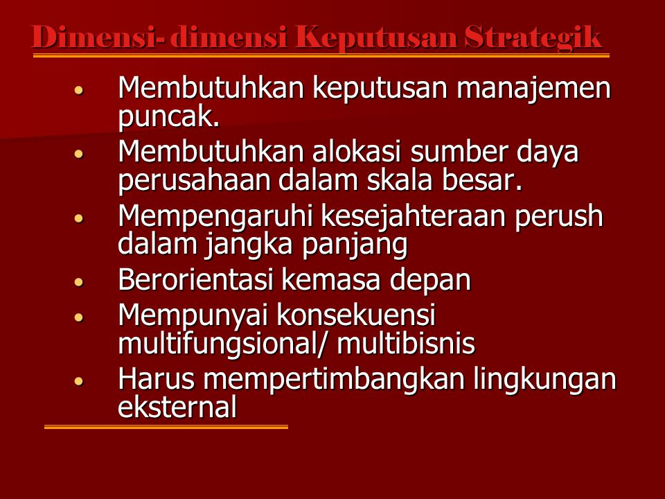 Strategic Management Is defined as the set of decisions and actions that result in the formulation and implementation of strategic designed to achieve