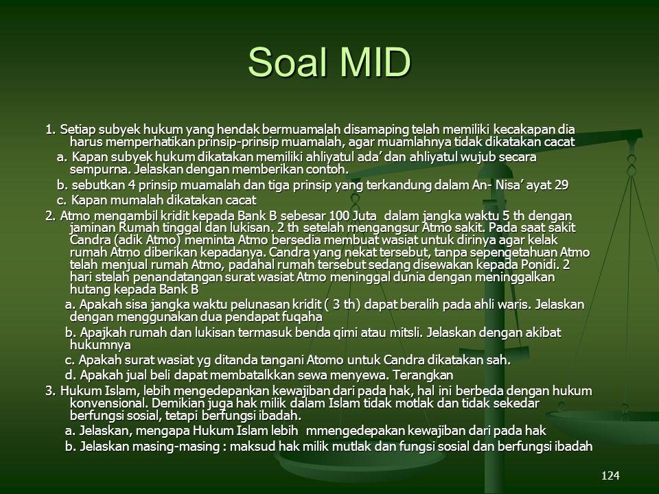 124 Soal MID 1.