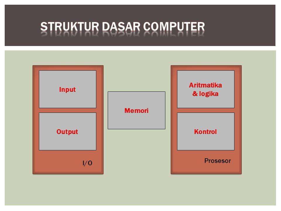 Komputer menerima informasi terkodekan melalui unit input, yang membaca data tersebut.