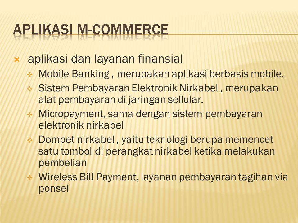  aplikasi dan layanan finansial  Mobile Banking, merupakan aplikasi berbasis mobile.