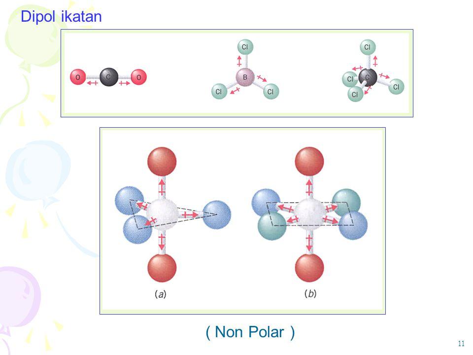 Dipol ikatan ( Non Polar ) 11