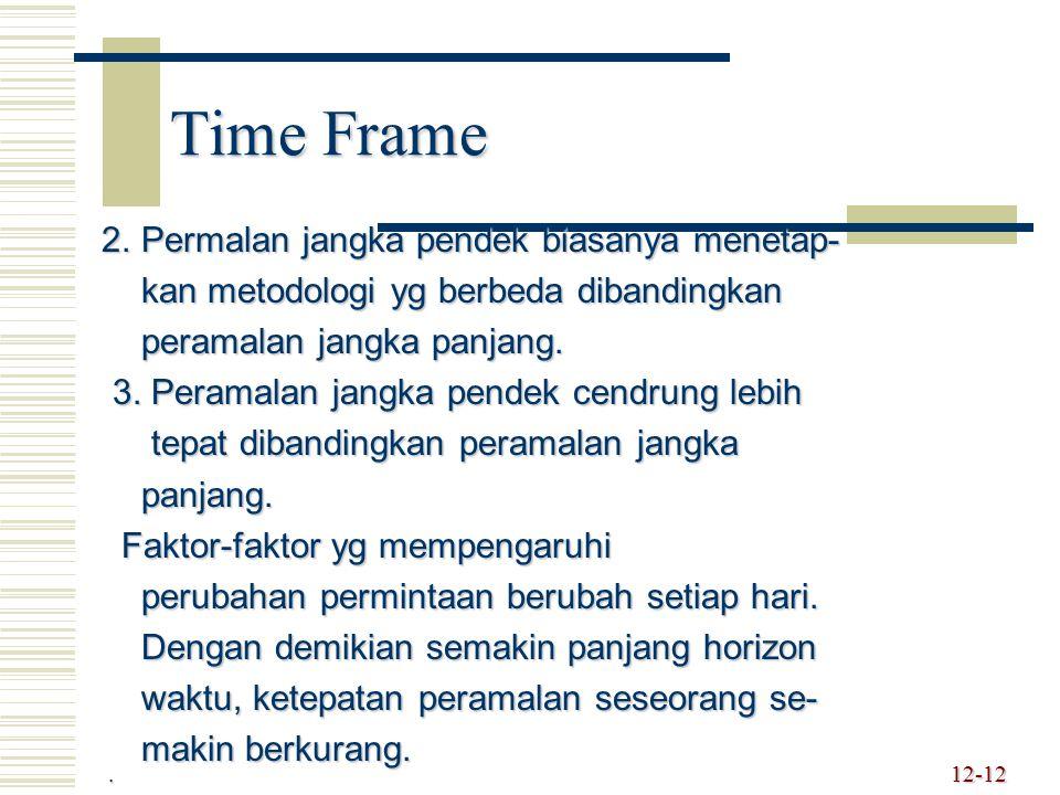 Time Frame 2. Permalan jangka pendek biasanya menetap- 2. Permalan jangka pendek biasanya menetap- kan metodologi yg berbeda dibandingkan kan metodolo