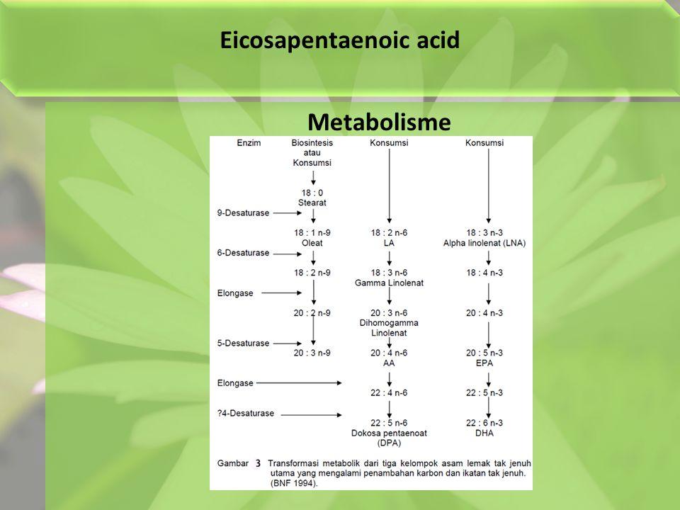 Eicosapentaenoic acid Metabolisme