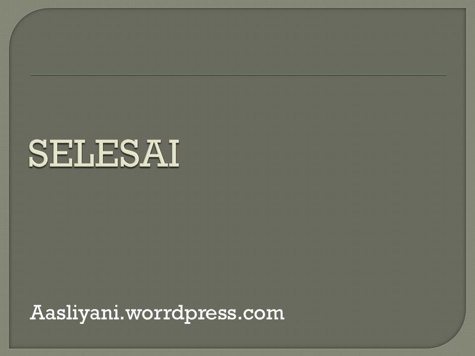 Aasliyani.worrdpress.com