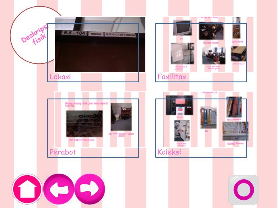 Fasilitas TV Penitipan Barang Whiteboard & projector Info Point printer prabayar meja dan kursi, koputer gratis