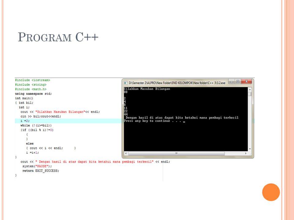 P ROGRAM C++