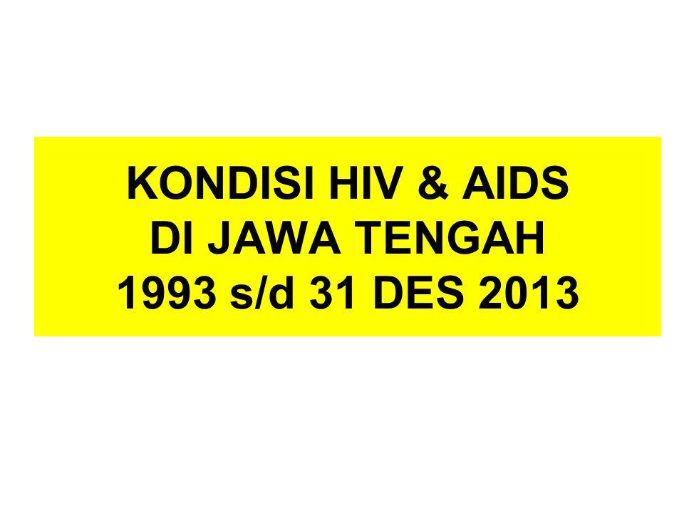KONDISI HIV & AIDS DI JAWA TENGAH 1993 s/d 31 DES 2013