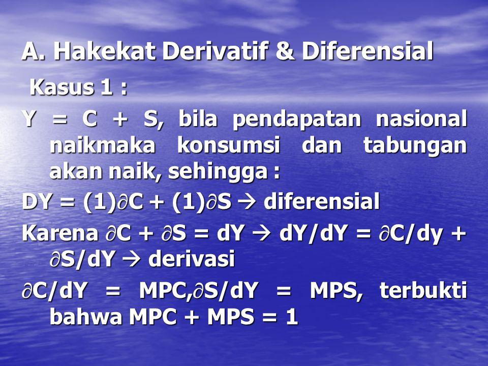 Kaidah Diferensial(3) Diff fungsi kompleks y = u^v ; u,v=f(x) Diff fungsi kompleks y = u^v ; u,v=f(x) –y' = v.u^v-1. u' + u^v. lnu. v' Diff fungsi bal
