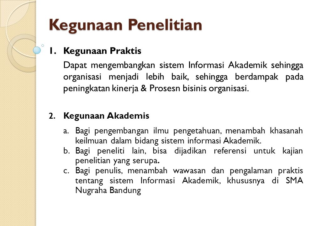 1.Tidak membahas seleksi calon siswa berdasarkan kualifikasi nilai akhir/NEM 2.